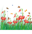 Color meadow vector image vector image