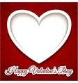 heart card background vector image