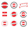 Made in Austria labels badges and stickers vector image vector image