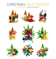 Paper Christmas and New Year banner vector image vector image