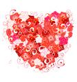 floral valentine vector image vector image