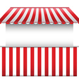 Stall with Striped Awning vector image vector image