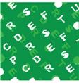 letter background pattern vector image vector image