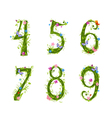 foliage letter 6 vector image