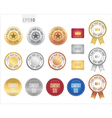 Set of premium quality guarantee badge and label vector image