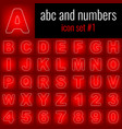 abc and numbers icon set 1 white line icon on vector image