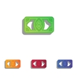 Bank Note dollar sign Colorfull applique icons vector image