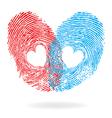 fingprint heart vector image