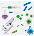 Medical tools and viruses vector image