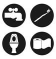 bathroom icon set in circle button vector image