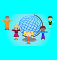 children of different nations of the world vector image