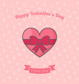 heart with ribbon bow vector image