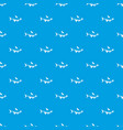 fish pattern seamless blue vector image
