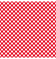 Table cloth seamless pattern red diagonal vector image