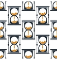 Hourglass or sandglass seamless pattern vector image