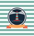 card on sea theme vector image