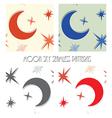 moon star sky seamless vector image