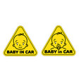 baby in car sticker vector image