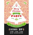 Christmas party poster design abstract vector image