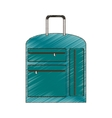 drawing suitcase travel equipment vector image