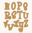 gingerbread font happy new year christmas vector image