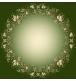 green and gold easter frame vector image