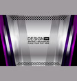 silver abstract background design vector image