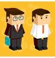 Square businessmen vector image