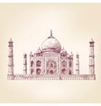 Taj Mahal India vector image
