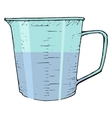 Measuring cup vector image