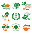 health food label vector image vector image