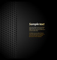 black mesh background with sample text vector image vector image