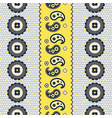 paisley lace dotted pattern seamless vector image