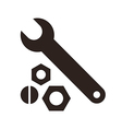 Wrench nuts and bolt icon vector image