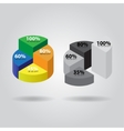 pie chart with four columns vector image