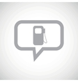 Gas station grey message icon vector image