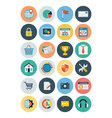 Flat SEO and Marketing Icons 3 vector image