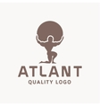 Atlant Atlas holds earth quality stylized logo for vector image