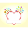 floral heart wedding vector image