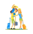 Family Of Three Travelers vector image