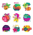 Autumn isolated elements collection vector image