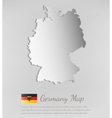 Germany map with shadow effect vector image