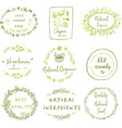 hand drawn labels and elements collection for vector image