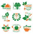 health food label vector image