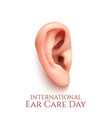 International ear care day vector image