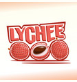 Logo for lychee vector image