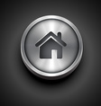 metallic home icon vector image