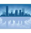 Oklahoma City skyline silhouette vector image