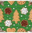 Seamless pattern with cookies vector image