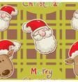 santa deer seamless redgreen vector image vector image
